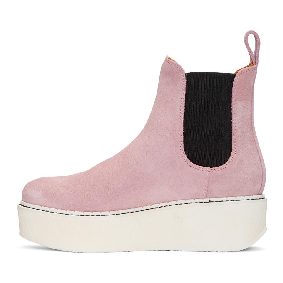 Flamingos SSENSE Exclusive Pink Suede Gibus Platform Boots Nseyb