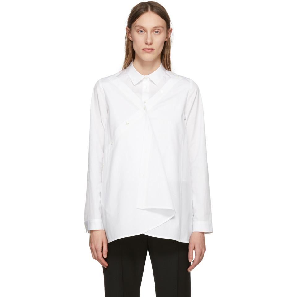 Outlet Pick A Best Visa Payment For Sale White Front Drape Shirt Chika Kisada Amazing Price For Sale Buy Authentic Online LRojpKQDv