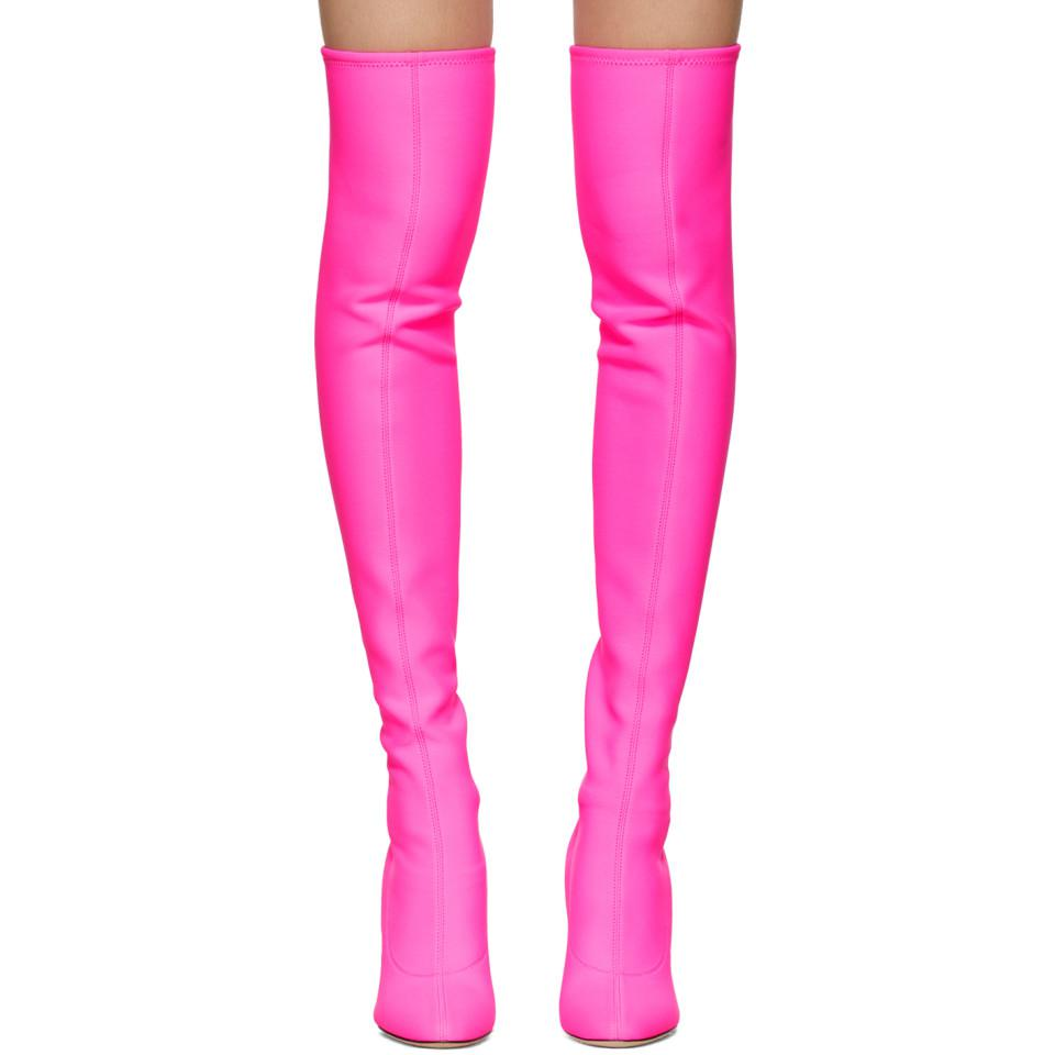 Lyst Giuseppe Zanotti Pink Bimba Over The Knee Boots In Pink