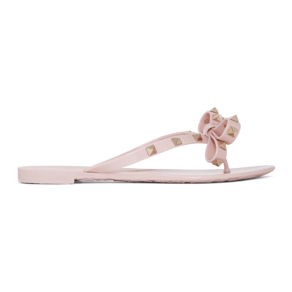 Read more Taupe Valentino Garavani Rockstud Bow Sandals jXnwI6d2