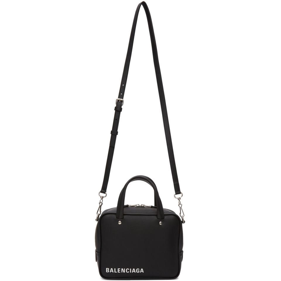 8cb96ce4786 Balenciaga Black Xs Triangle Square Bag in Black - Lyst