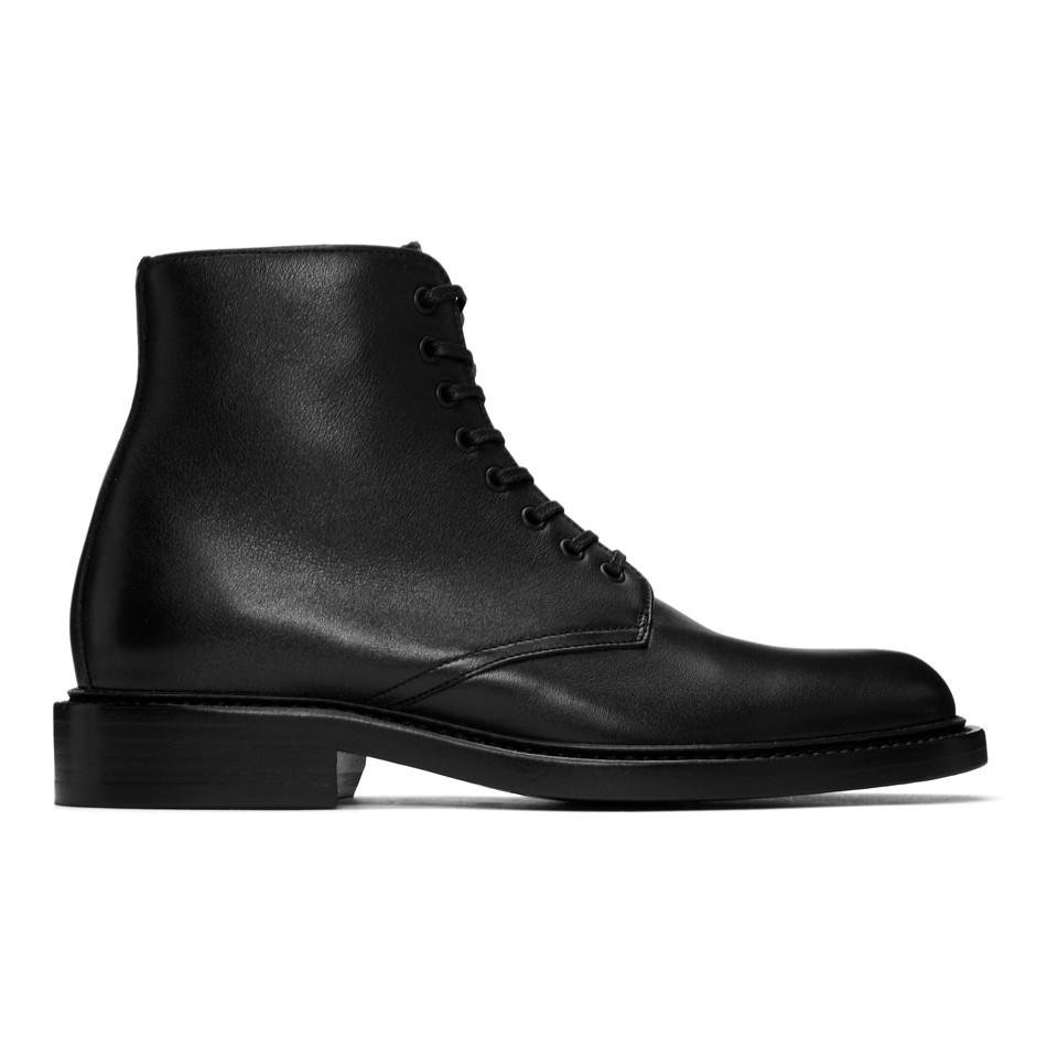 9b0a9353497 Saint Laurent Black Army Ranger Ankle Boots in Black - Lyst