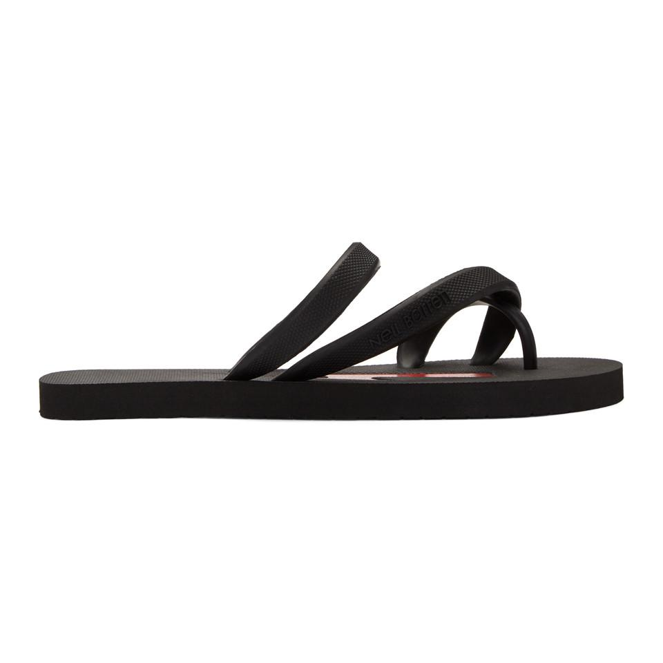 Original Prix Pas Cher Grande Remise Vente En Ligne Neil Barrett Black & White Rubber Thunderbolt Sandals xvnzrA8We
