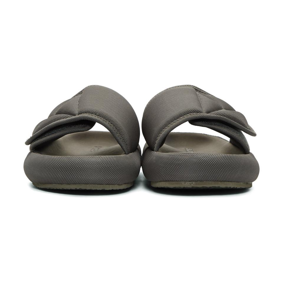 96a7c042750ed Lyst - Yeezy Grey Nylon Slipper Sandals in Gray for Men