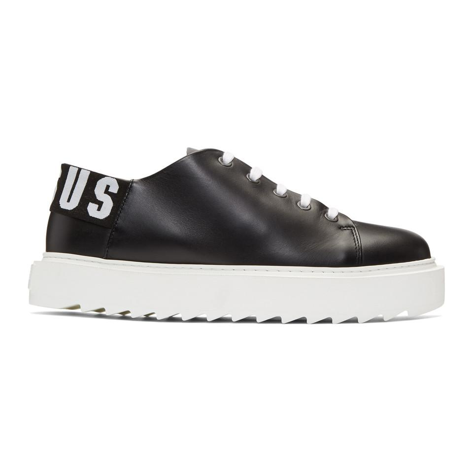 Black Logo Platform Sneakers Versus Clearance Shopping Online Browse Cheap Price Free Shipping The Cheapest 7NmXuQZm