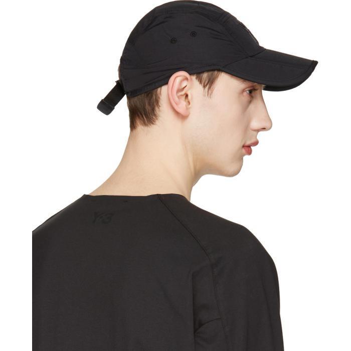 621e8e88373 Lyst - Y-3 Black Fold Cap in Black for Men