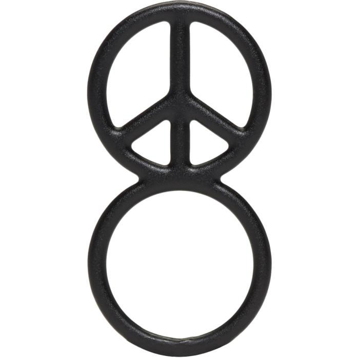 Lyst Haal Black Peace Sign Ring In Black For Men