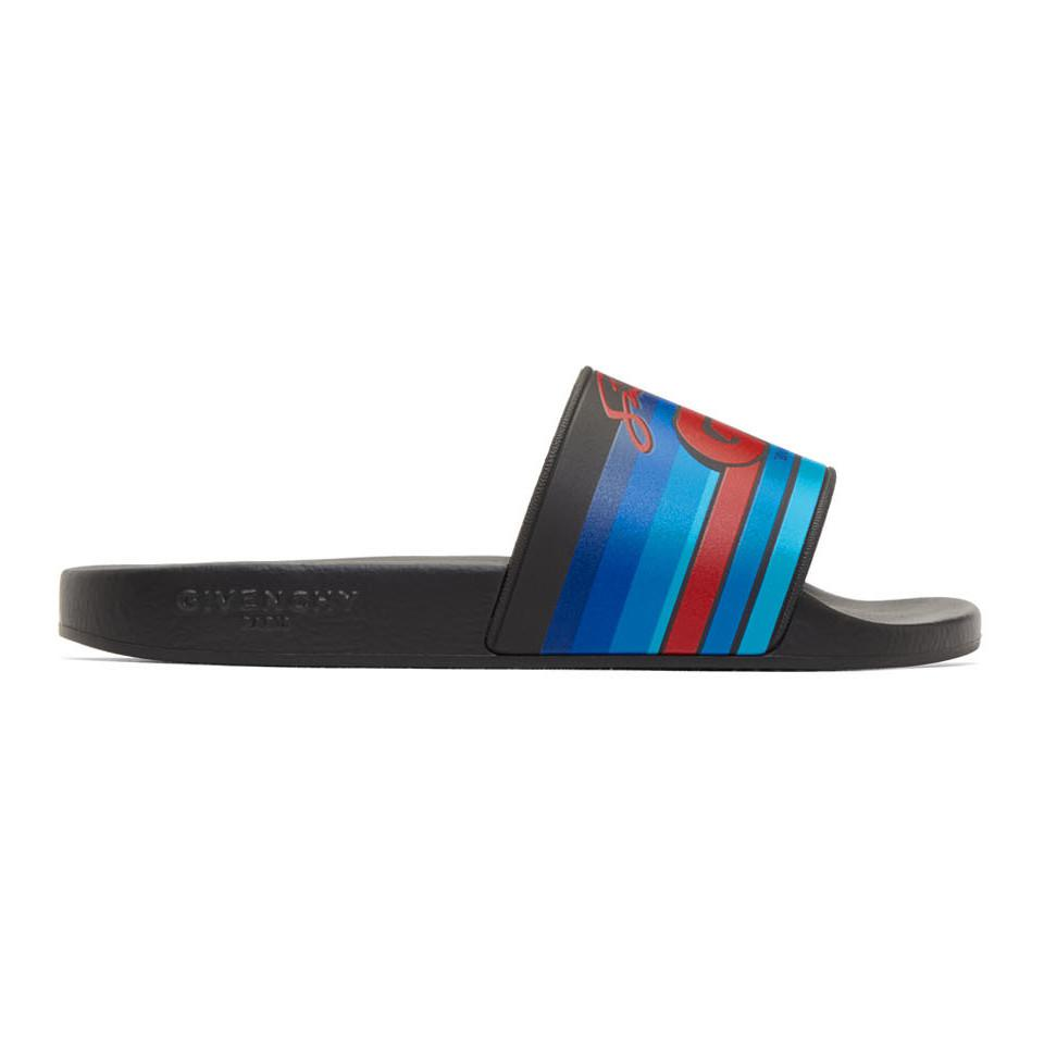 Givenchy GV World Tour' Motocross Pool Slides 0HPXi6K