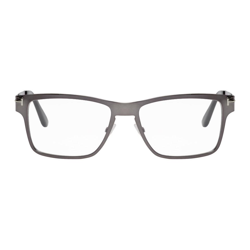 cc10d347eff6 Lyst - Tom Ford Black Soft Square Magnetic Clip Glasses in Black for Men