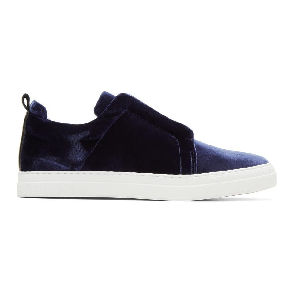 Pierre Hardy Velvet Slider Slip-On Sneakers lKheRxq83O
