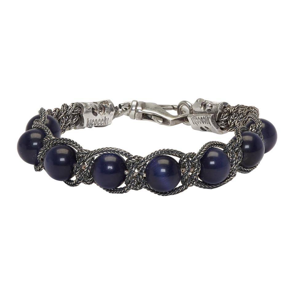 Emanuele Bicocchi beaded bracelet - Blue rWJiNJVC