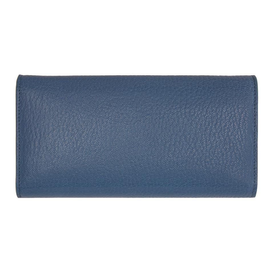 Porte-monnaie Bleu Palangre Lanvin Q24rfVZ7a