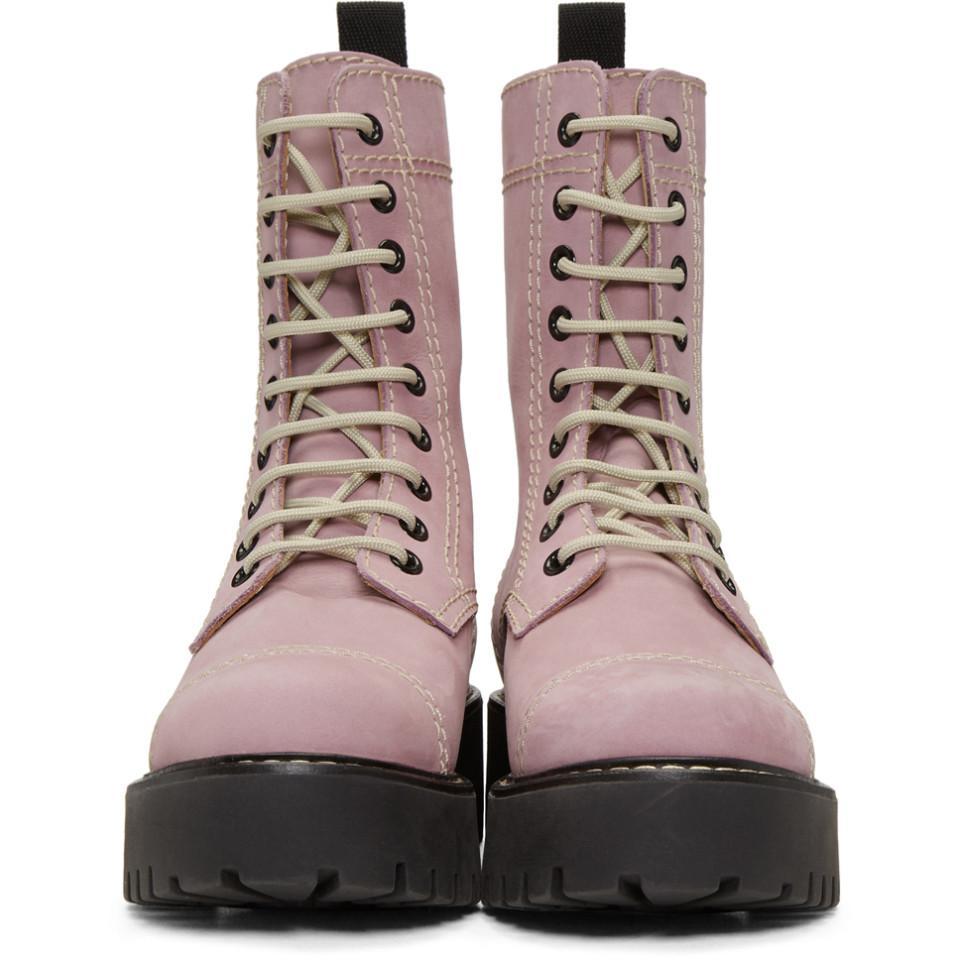Purple Lace-Up Boots AlexaChung UQhSFj