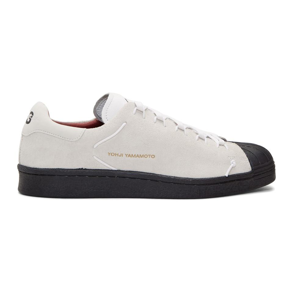 d4ff7f68f Y-3 White And Black Superknot Sneakers in White for Men - Lyst