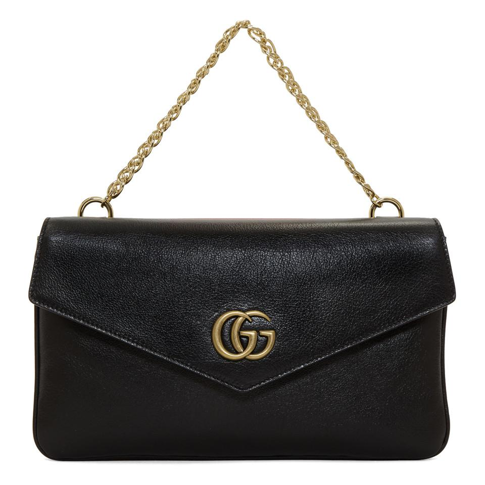 1b74d2cf561d Gucci Black And Red Thiara Double Bag in Black - Lyst