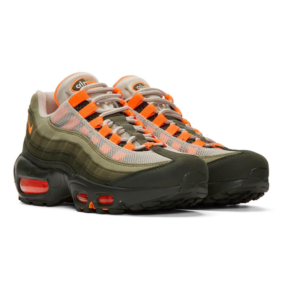 589b6dd43b ... australia get nike green and orange air max 95 og sneakers lyst. view  fullscreen c9c53