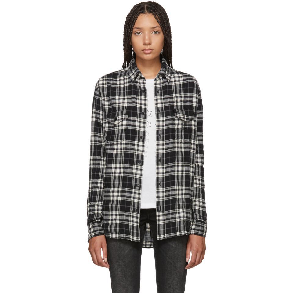 Black and White Check Look 61 Shirt Saint Laurent Outlet Pick A Best Discount Real Hot Sale Online Shop Online 9cVDWE