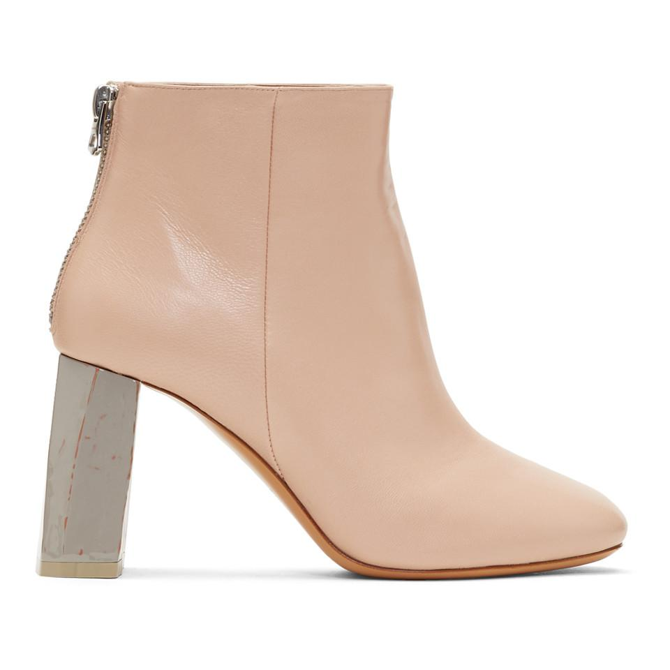 Acne Pink & Grey Claudine Boots