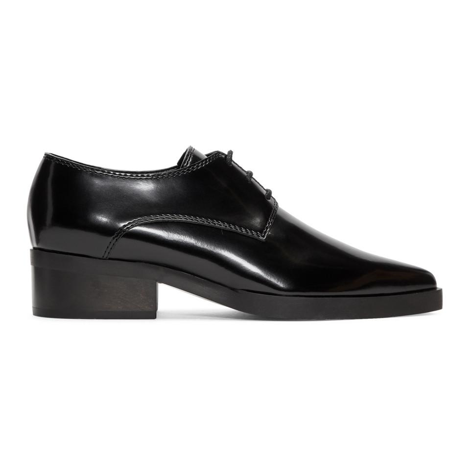 Stella McCartney Black Pointed Toe Derbys LPFYoqKz