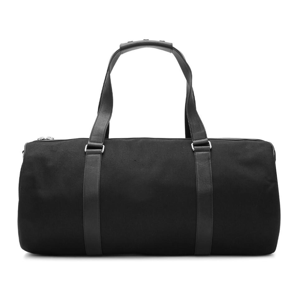 c06ceba9ca Lyst - Saint Laurent Black Gabardine Duffle Bag in Black for Men
