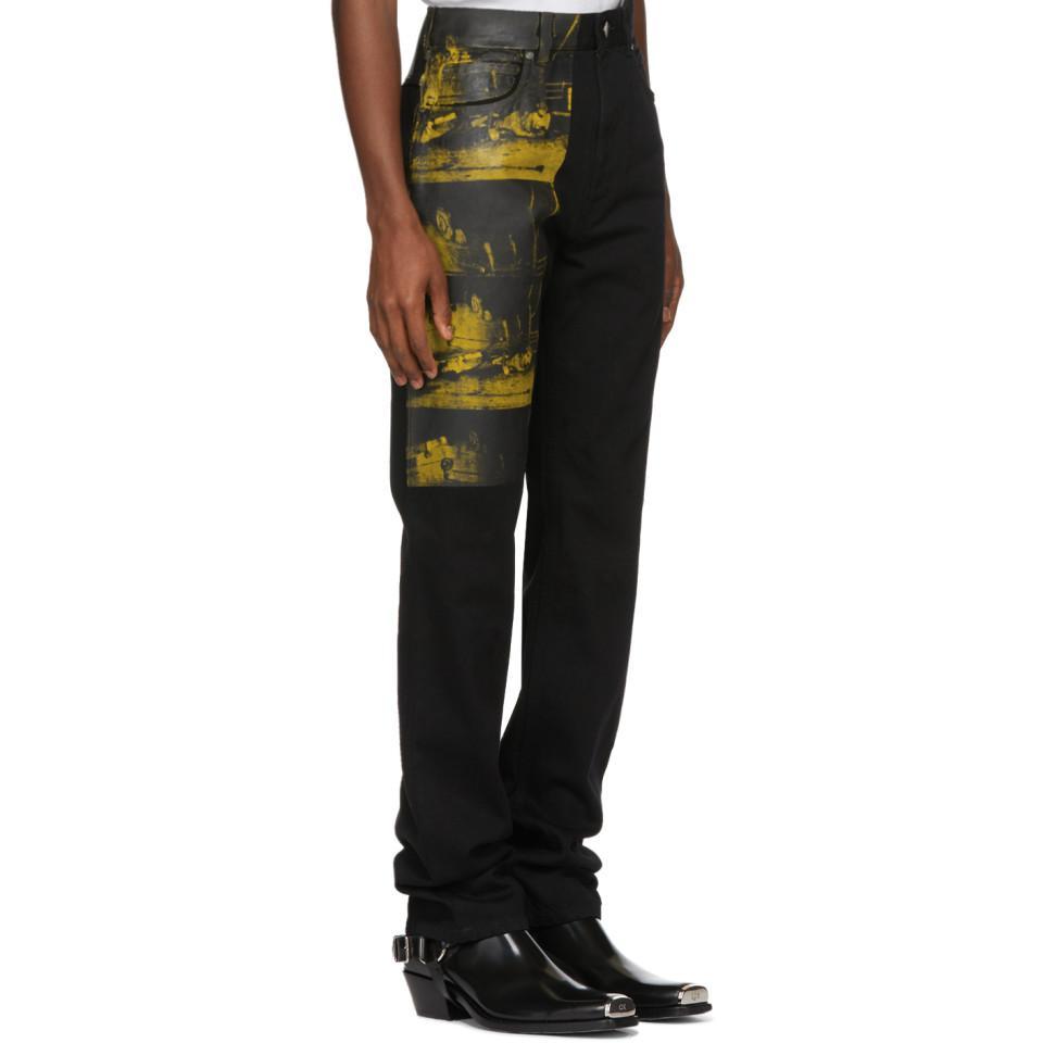 1ca450b2d04 Lyst - CALVIN KLEIN 205W39NYC Black Car Crash Jeans in Black for Men