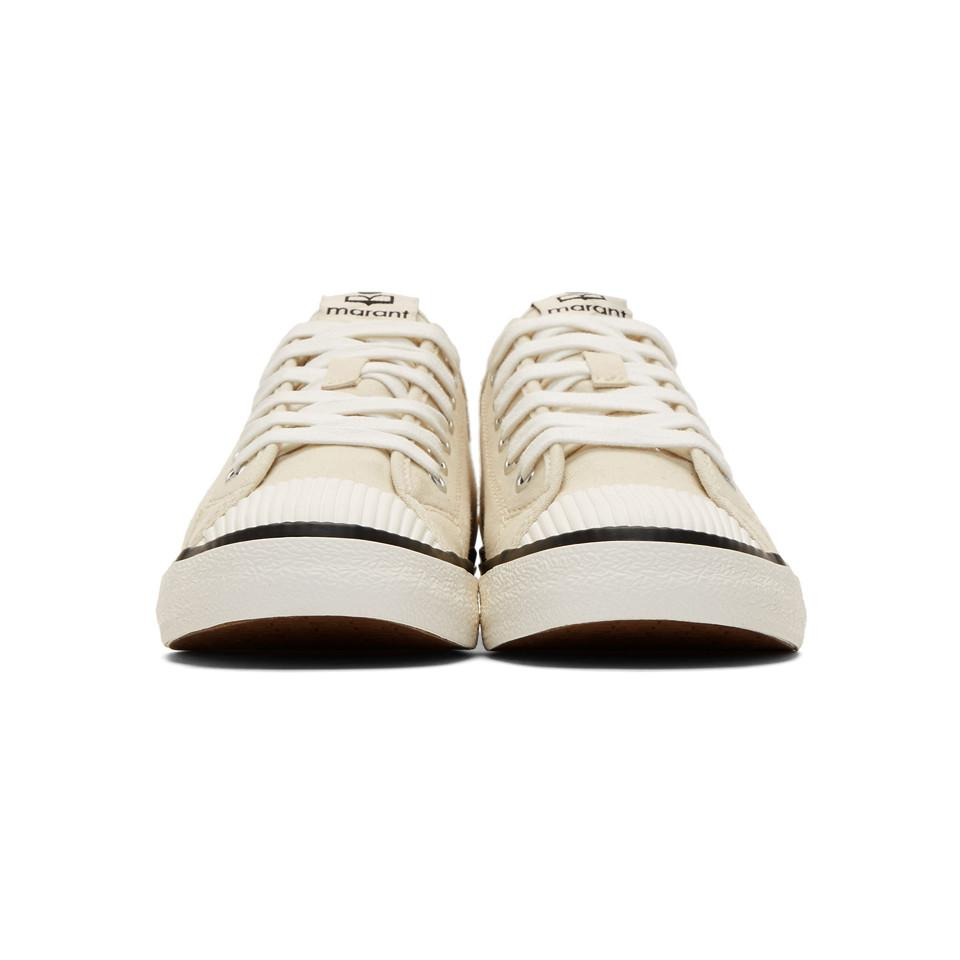573c741d387 Isabel Marant - Natural Beige Binkooh Tennis Sneakers for Men - Lyst. View  fullscreen