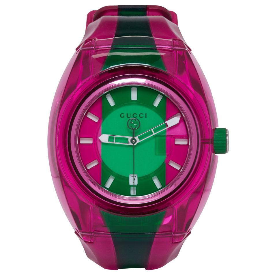 b815400ba96 Gucci - Pink And Green G-sync Watch for Men - Lyst. View fullscreen
