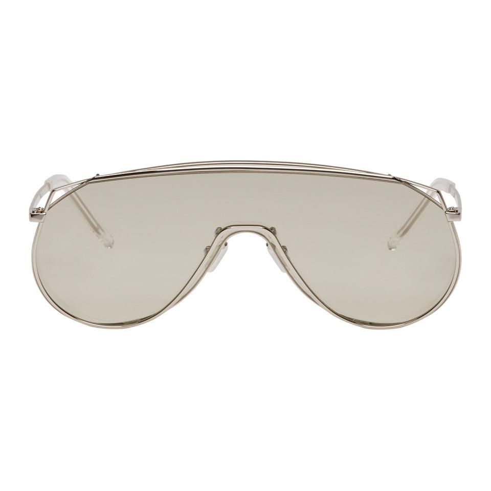 4599a87523 Lyst - Gentle Monster Silver Afix Shield Sunglasses in Gray