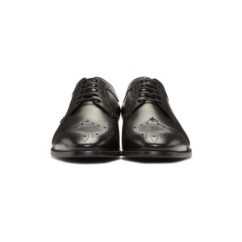 58a38810125 Gucci - Black Thune Brogues for Men - Lyst. View fullscreen