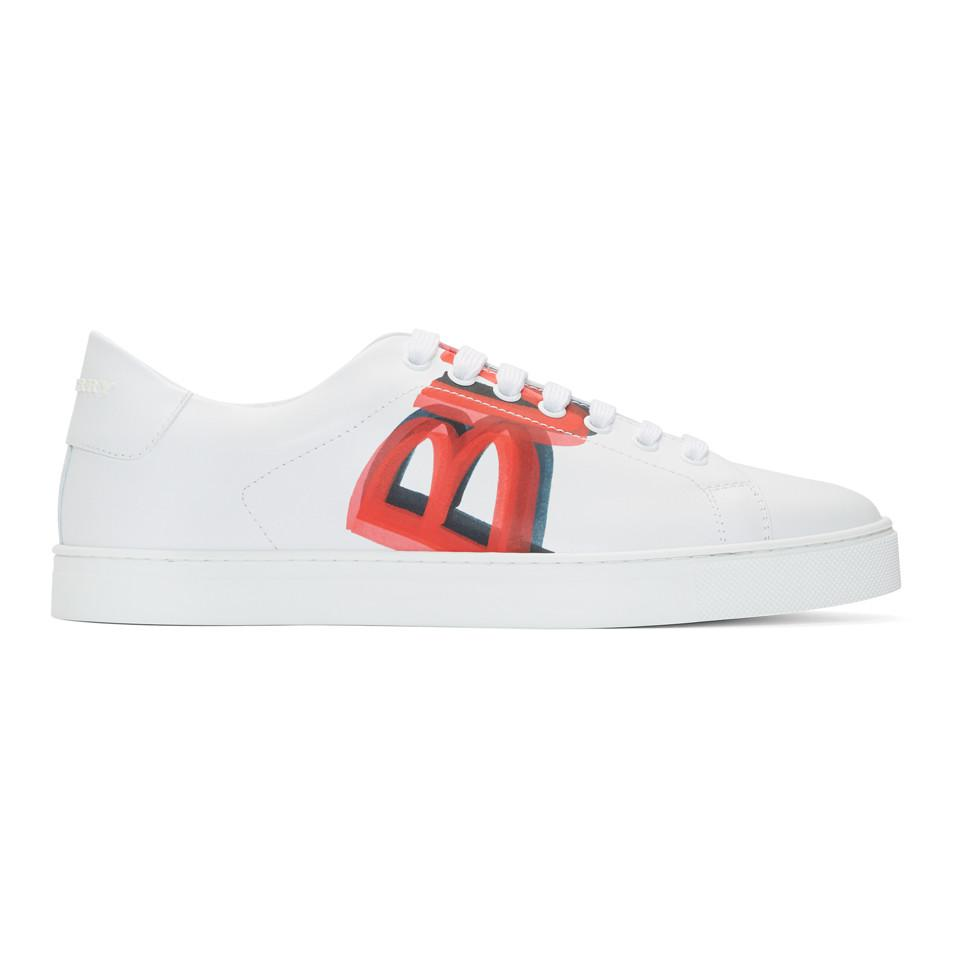 White and Red Albert Sneakers Burberry