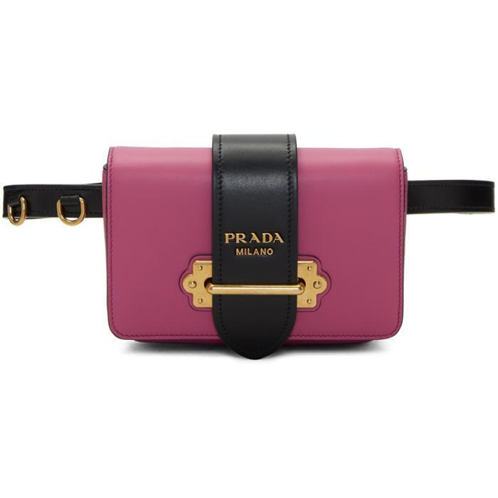 bd3a99b647f9 ireland prada logo plaque belt bag abeec e592e; ebay prada pink cahier  chain belt bag in pink lyst 36126 0128b