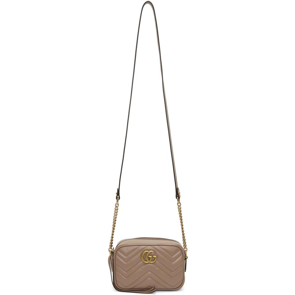 40a4a6b1667b Gucci. Women's Pink Mini Gg Marmont 2.0 Camera Bag