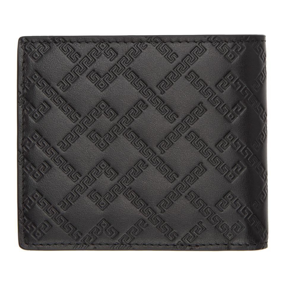 2bc63d7db2 Versace - Black Greek Key Wallet for Men - Lyst. View fullscreen