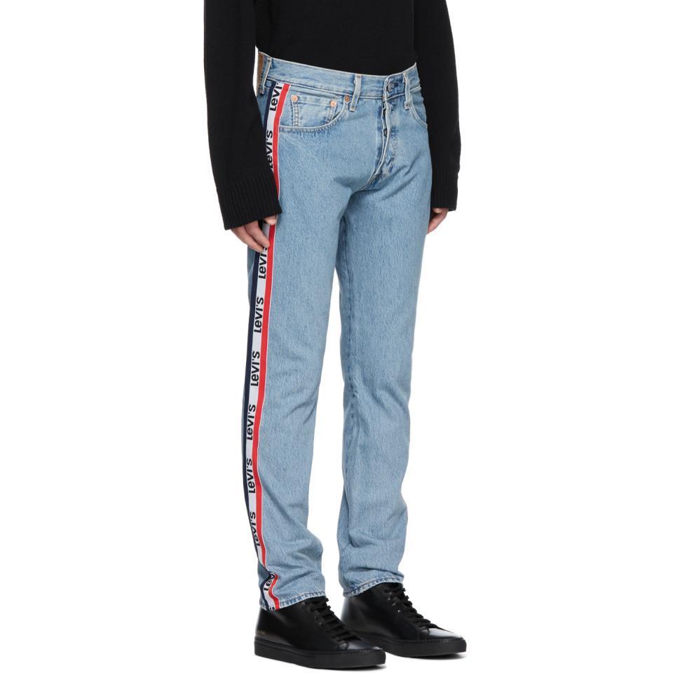 081be698 Levi's Blue 501 Taper Sport Stripes Jeans in Blue for Men - Lyst