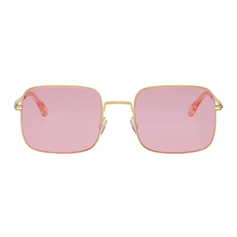 Gold and Pink Studio 7.1 Sunglasses Mykita eFrm7E