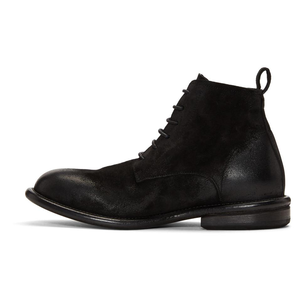 MARSèLL Black Cetriolo Bombe Lace-Up Boots