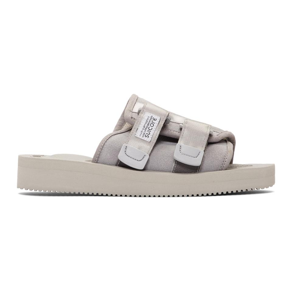a540963e3ec0 Suicoke Grey Suede Kaw-vs Sandals in Gray for Men - Lyst