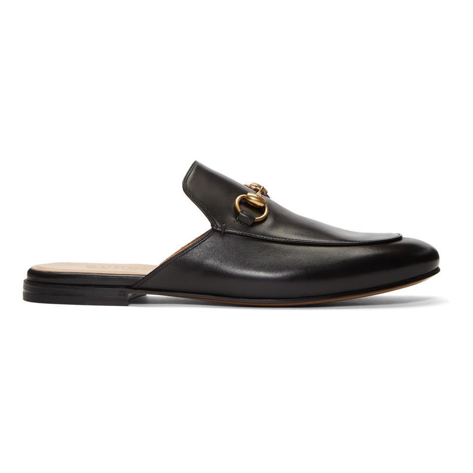 6acae291345 Lyst - Gucci Black Kings Slip-on Loafers in Black for Men