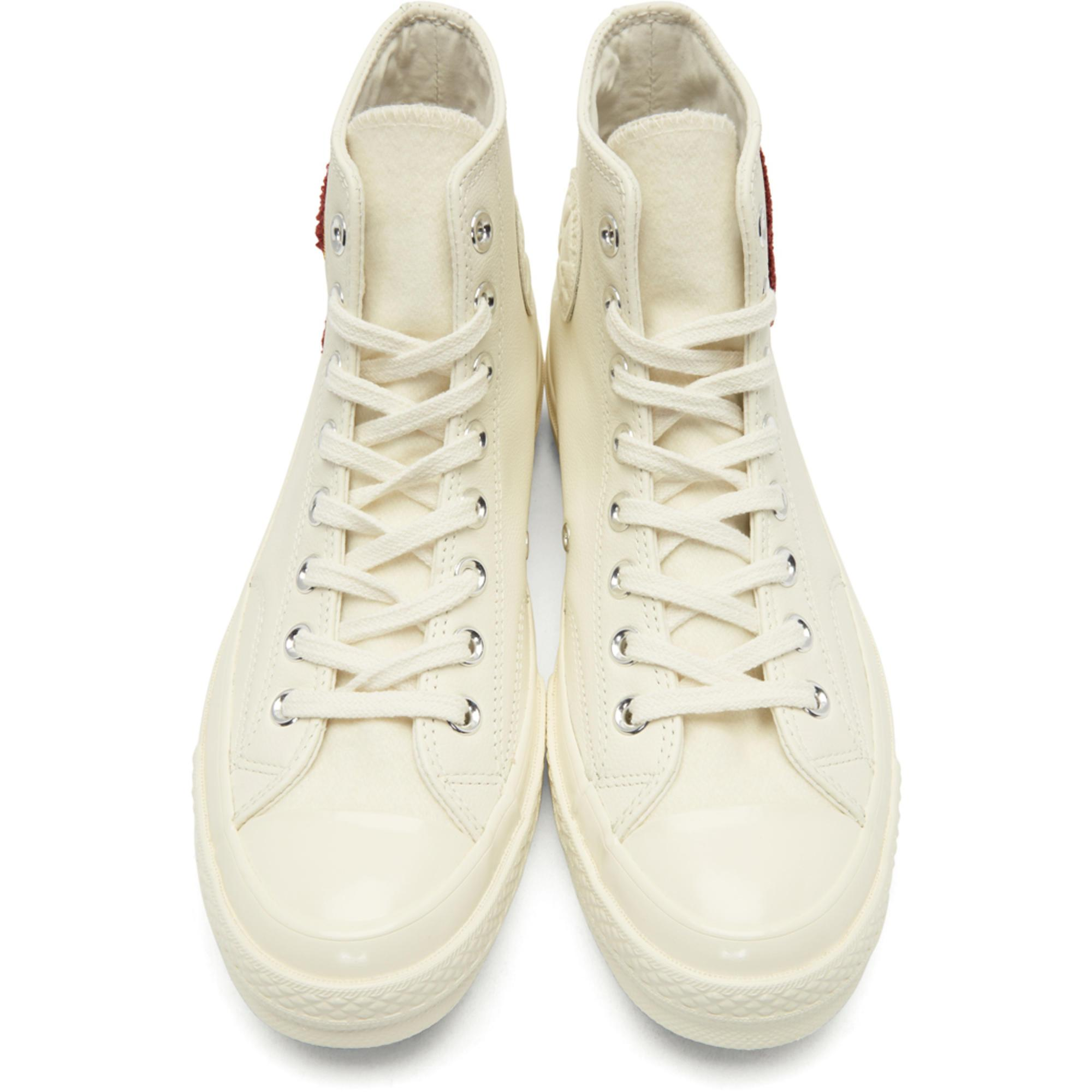 2a50491b068 Baskets montantes en laine blanches Chuck Taylor All Star 70 ...