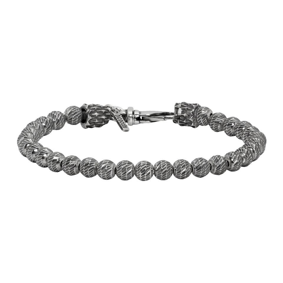 a9275e260 Lyst - Emanuele Bicocchi Silver Single Beaded Bracelet in Metallic ...