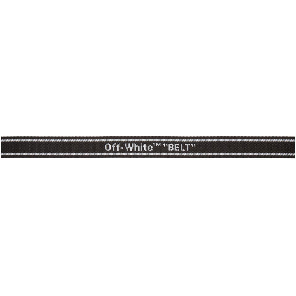 Lyst - Ceinture noire Mini Industrial Off-White c o Virgil Abloh ... b597780d173