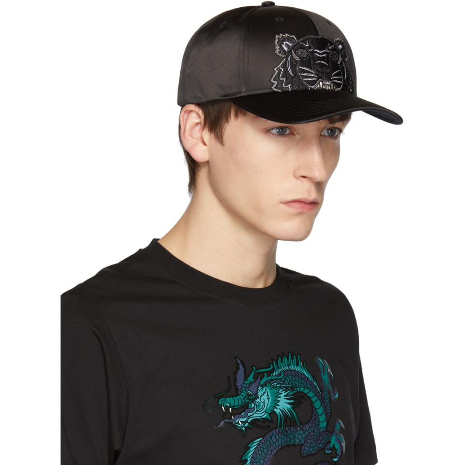 KENZO Black Limited Edition Holiday Tiger Cap in Black for Men - Lyst 39f3cad0b