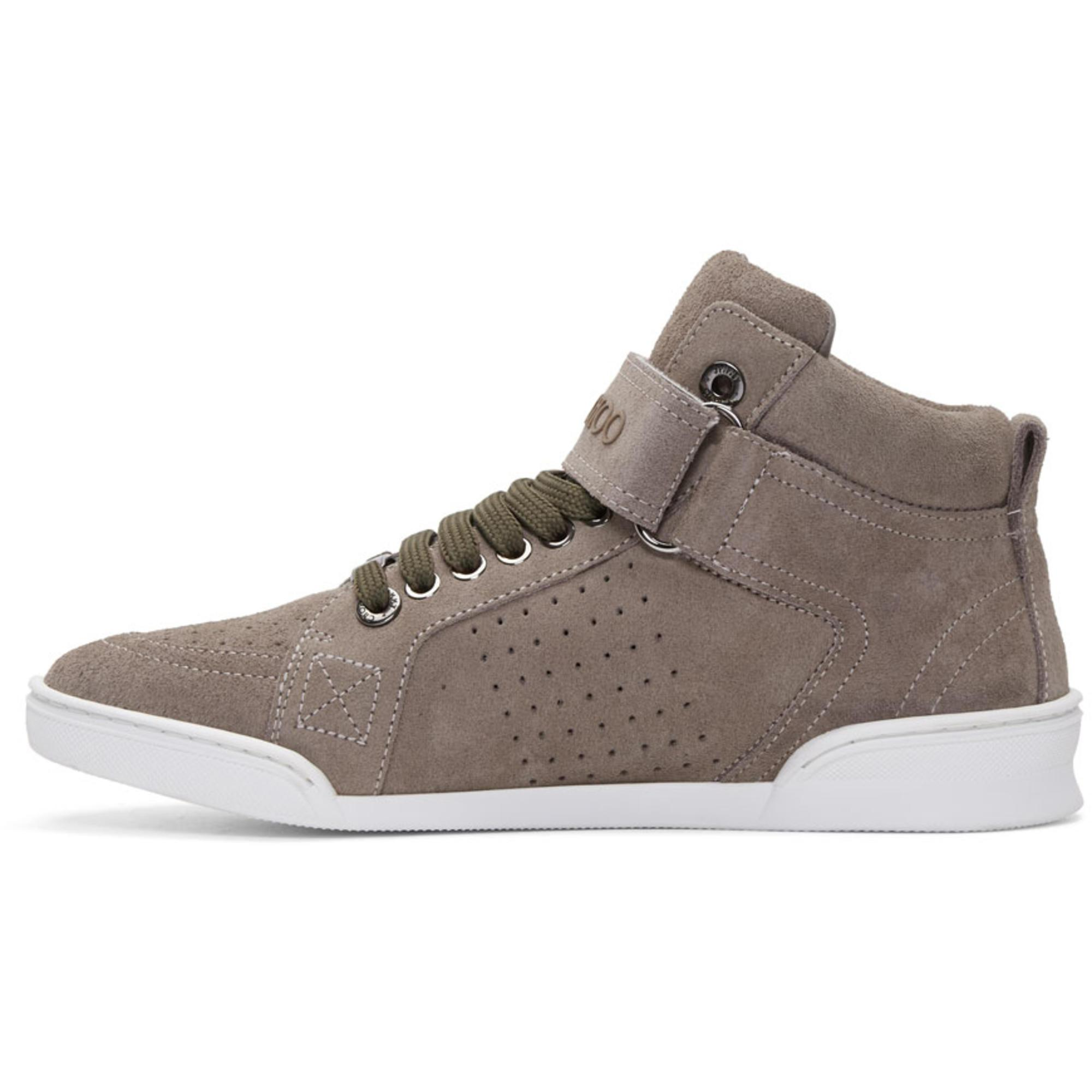 Jimmy Choo Taupe Suede Lewis High-Top Sneakers HJmwXQw