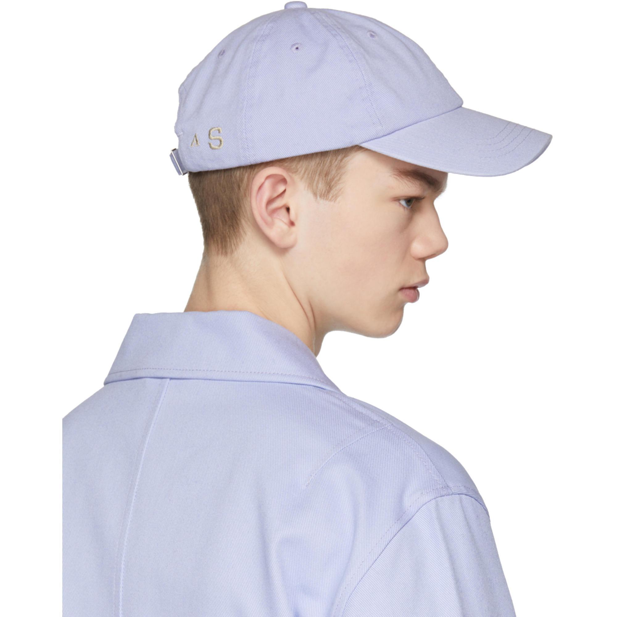4a47922e4e9 Lyst - Acne Studios Purple Carliy Cap in Purple for Men
