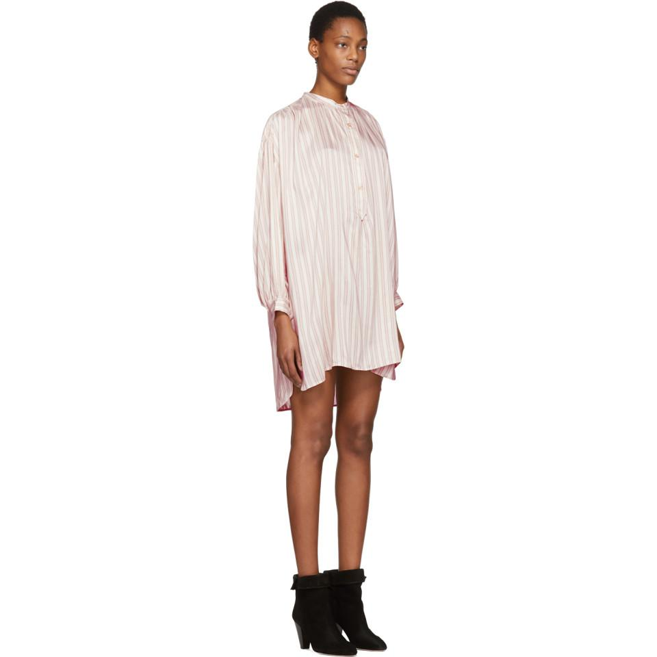 Pink Striped Idoa Dress Isabel Marant Cheap Sale Geniue Stockist Fashion Style Cheap Online For Sale Very Cheap 2mX5m