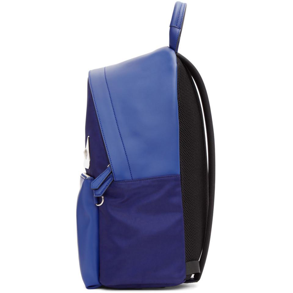 Lyst - Sac a dos bleu et bleu marine Bag Bugs Fendi pour homme en ... 57b8993469d