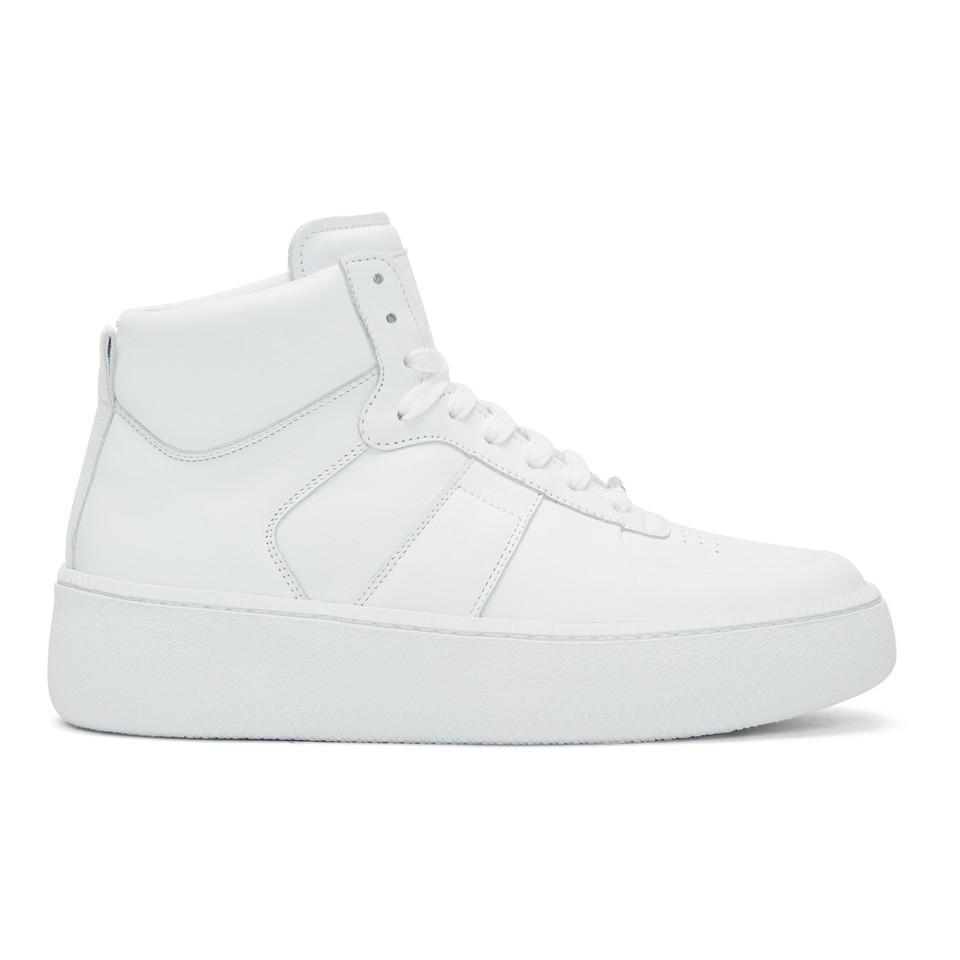Maison Margiela White Chunky Sole High-Top Sneakers xED9KhNmu