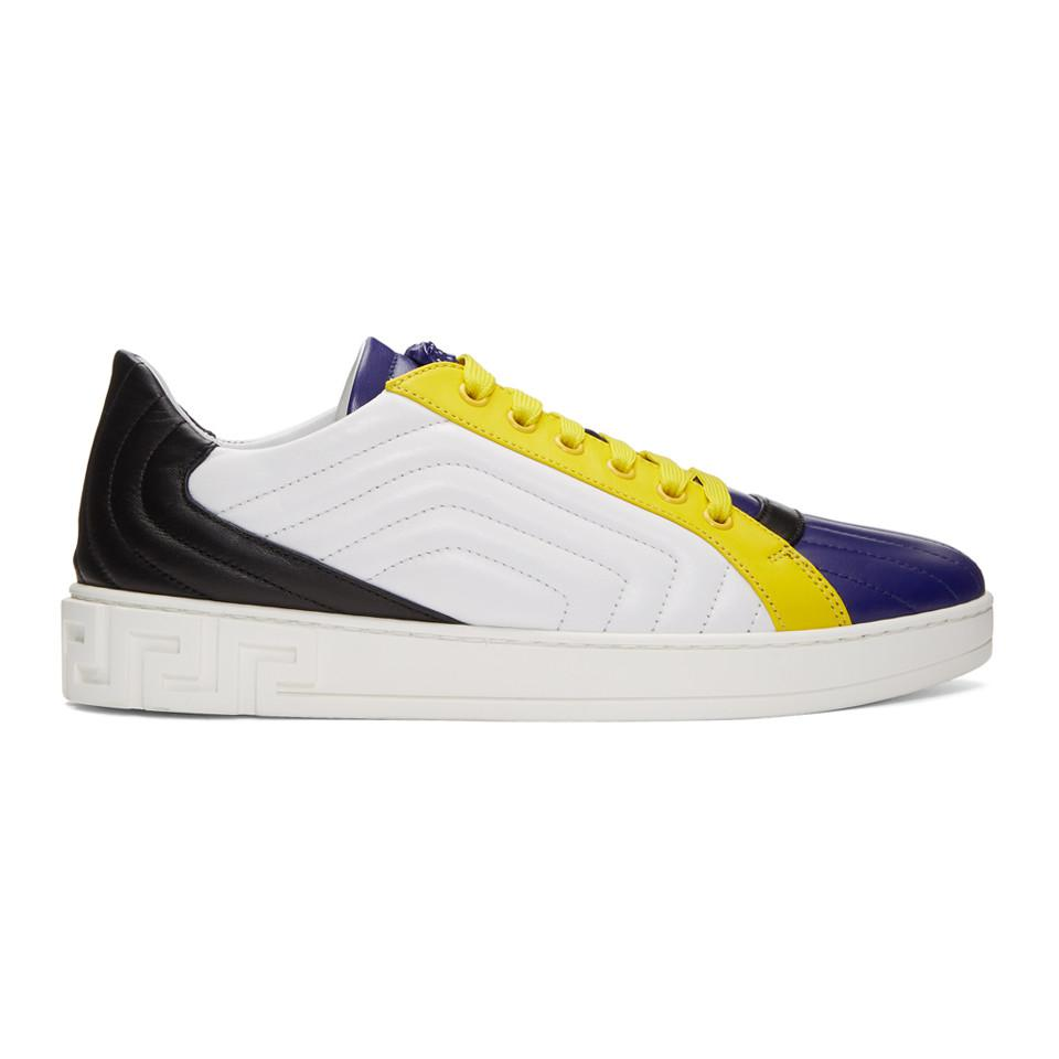 Golden Goose Navy Quilted Greek Sneakers dH2so0