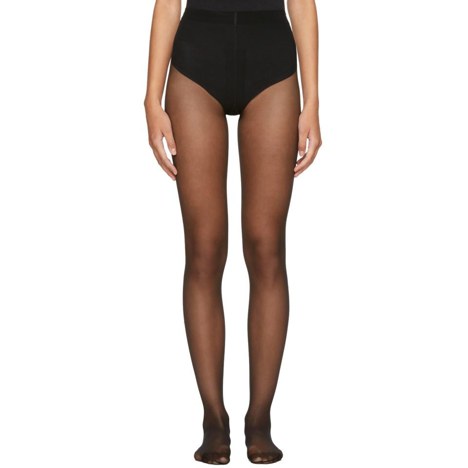 06541f0bcee Wolford Black Individual 10 Back Seam Tights in Black - Save ...
