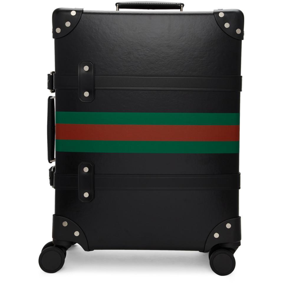 de9c5ce9ba61 Lyst - Gucci Black Globe-trotter Edition Web Carry-on Suitcase in ...